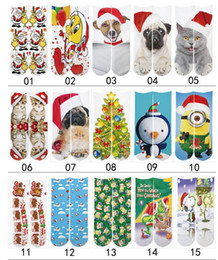 Wholesale Racing Gifts - Wholesale Fashion Sports Kids Stockings 100pcs=50pairs 3D Printed Socks Christmas gift kids 3D Unisex Stocking festival Soft Cotton Socks