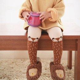 Wholesale Girl Wear Sock - Baby socks 2016 Cartoon New Cute Baby Boy Girls Socks Knee High Dots Fox Socks For Toddler Autumn Children Worn Stockings A5252