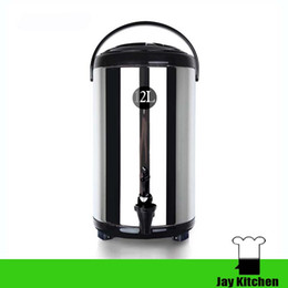Wholesale Commercial Milk - 12L commercial stainless steel bucket insulation barrels milk tea water barrel soybean milk barrels water insulation barrel drink shop
