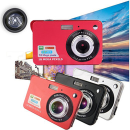 "Wholesale Cheap Wholesale Digital Cameras - Cheap HD Digital Camera 18MP Max 1280x720P 2.7"" TFT 4X Zoom Smile Capture Anti-shake Video Camcorder 8X Digital Zoom with DHL Shipping"