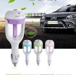 Wholesale Fragrance Warmers - Cheap Hot Nanum Car Plug Air Humidifier Purifier,Vehicular essential oil ultrasonic humidifier Aroma mist car fragrance Diffuser 50pcs DHL