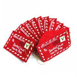 Canada Cartes Enveloppe de bonbons Sac de Noël Cartes de Noël Décor de cartes d'invitation de Noël en tissu non tissé Offre