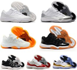 Wholesale Basket Ball Shoes Cheap - Men basketball shoes sneakers air retro 11 low Concord 72-10 Bred space jams Legend Blue heiress velvet barons gold cheap basket ball