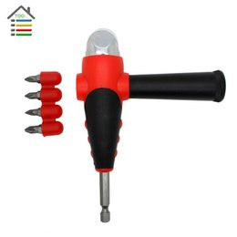 Wholesale Tools Drills Adapter - New Right Angle Bit Driver Adapter Set with 4pc Screwdriver Bits Handle for Air Power Drill Tool order<$18no track