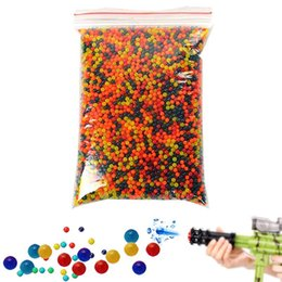 Wholesale Bag Mini Toys - 10000pcs  Bag Paintball Balls Pistol Toy Bomb Party Toys Shooting Water Crystal Ball Soft Bullets YH-17