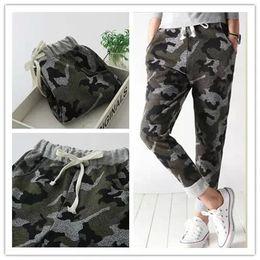 Wholesale Woman Fashion Camouflage Pants - Women Harem Pants Fashion Couple Camouflage Print Drawstring elastic waist Pocket Trousers Casual brand hip hop sport
