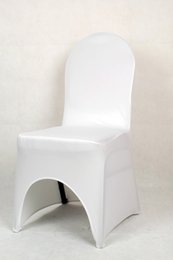 Wholesale Discount Spandex Chair - free shipping big discount 100pcs white banquet chair cover lycra banquet chair cover for weddings