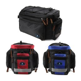 Wholesale Mountain Racks - Mountain Road MTB Bike Bags Cycling Pannier Rear Seat Bag Bicycle Rack Back Seat Bag Pouch Shoulder Handbag Black Red Blue