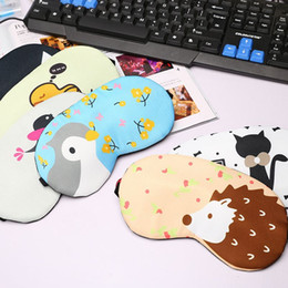 Wholesale Fatigue Cold - Cute Cartoon Sleeping Eyeshade Patch Of Ice Cold Compress Eliminate Eye Fatigue With Ice Goggles Necessary Summer Free Shipping