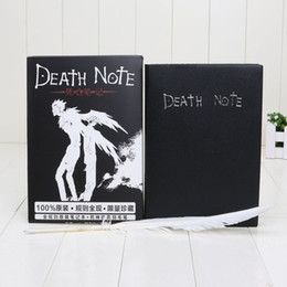 Wholesale Anime Journal - Hot Sale Death Note Notebook & Feather Pen Book Japan Anime Writing Journal New Free shipping For Sale
