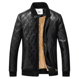 Wholesale Embroidery Velvet Coat - Wholesale- winter jacket men leather jacket coat brand clothing warm fur jacket men thick velvet PU jaqueta couro coat down coat men