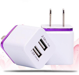 Wholesale Usb Cable Iphone Ac - For Samsung Galaxy S7 S7Edge Wall Charger, 1A 2.5V Universal USB Ac Wall Travel Power Charger Adapter for iPhone Plus 4 5 5S DHL CAB124