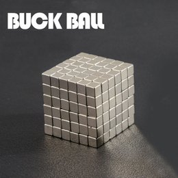 Wholesale Magnet Balls 5mm - 216pcs Cube Magnetic Balls 6*6*6 3mm 4mm 5mm Size Grade N35 Neodymium Cube Magico Magnet Puzzle Educational Toy Metaballs gifts OTH626