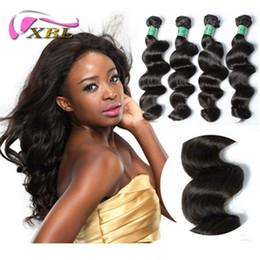 Wholesale Remy Hair Extensions Set - XBL Loose Wave Human Hair Extensions Mink Malaysian Virgin Human Hair Bundles 300 400G One Set