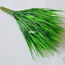 Wholesale Rustic Artificial Flowers - Fashion Hot Green Grass Artificial Plants For Plastic Flowers Household Dest Rustic Decoration Clover Plant