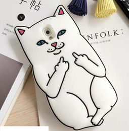 Wholesale E5 Case - 3D Ripndipp Cat Middle Finger Soft Silicone GEL Case For Samsung Galaxy S4 S5 S6 S7 EDGE A5 E5 J1 ACE NOTE5 Pocket Cat Cartoon Skin Cover