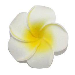 Wholesale Plumeria Wedding - Free Shipping 5cm white multiple Hawaiian PE plumeria flower Frangipani Flower bridal hairclip headwear accessory 100pcs lot