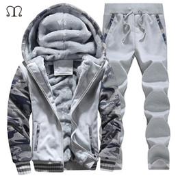 Wholesale 4xl Sweat Pants - Wholesale-Men Jogger Set Brands 2016 New Arrived xxxxl Hoodies Men Sweat Suits Fleece Hooded Tracksuit Tops and Pants Plus Size M-4XL #D62
