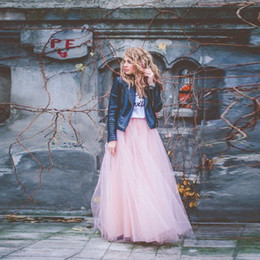 make tutu skirts for adults Promo Codes - New Arrival Dreamlike Pink Adult Tutu Skirts Floor Length Layered Ruched Tulle Long Skirt Maxi Skirt For Women Custom Made