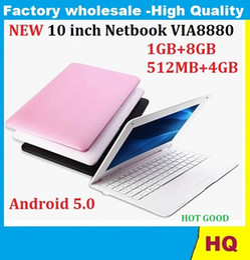Wholesale camera wifi wireless 1pcs - 1PCS 10 inch Netbook VIA8880 Dual Core UMPC Android 5.0 1.5GHz Wifi 512MB RAM 4GB HDD Camera Mini Laptop dhl free