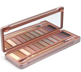 Melhor sombra de glitter on-line-Melhor qualidade matte glitter paleta de sombra de olho 12 cores / ouro sombra para olhos castanhos / embalagem de Lata como bons presentes