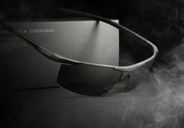 Wholesale Magnesium Coating - New VEITHDIA Aluminum Magnesium Men's Sunglasses Polarized Coating Mirror Sun Glasses oculos Male Eyewear Accessories For Men