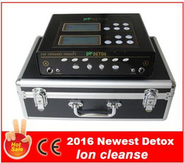 Wholesale Ion Ionic Detox Foot Bath - 2017 New Deep Cleansing Dual Ionic Foot Detox With Wristband FIR Belt,CE Approved Detox Machine,Ion Foot Spa,Foot Bath,Ion Cleanse DHL Free