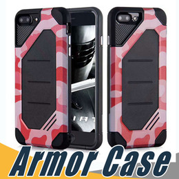 Wholesale Cases For Zte - Camouflage Hybird Case Armor Shockproof 2 In 1 PC+TPU Cases Cover For iPhone X 8 7 6 6S Plus 5 5S Sumsung S8 Plus Note8 ZTE Zmax pro Z981