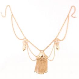 Wholesale Necklace Waist Belly Belt - Waist Chain Tassel Belly Chain Women Boho Bohemian Shimmy Belt Dance Gypsy Turkish Metal Dangle Multilayer Sequins Body Jewelry