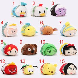 Wholesale Screen Figures - Lovely Tsum Tsum Plush Toys Donald Winnie Snow White Inside Out Mini Duck Mouse Animal Toy Screen Cleaner Dolls TSUM TSUM