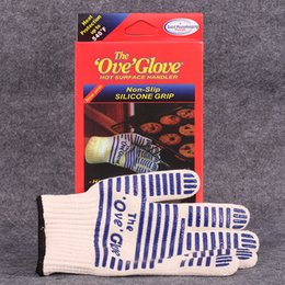 microwave mitts Coupons - The Ove Glove Non-Slip Silicone Grip Protective Cooking Tools Bakeware tricot Microwave Glove 540 F Heat Proof Resistant Kitchen Oven Mitts