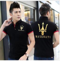 Wholesale F1 Blue - 2016 MASERATI EXCELLENCE THROUGH PASSION l Short sleeve T-shirt Top Cotton Mercedes F1 Men T shirt New DIY Style Maserati shirt