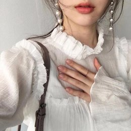 2017 nuovo di alta qualità perla nappa orecchini finti capelli cerchio hoop corda perla pressione versione coreana di accessori per capelli delle donne all'ingrosso da