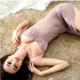 Wholesale Sexy Lingerie For Women - Wholesale-high quality sexy women Spaghetti Strap nightgown women sleepshirts ,nightwear sleepwear for women lingerie set nightdress