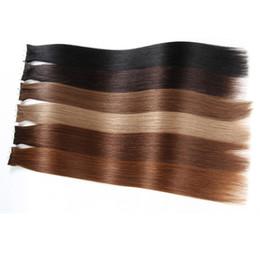 Cheveux clairs de peau marron en Ligne-trame de la peau bande dans les extensions de cheveux humain pour votre belle réduction de cheveux # 8 brun clair brésilien beauté droite produits pour les cheveux 14-24 pouces