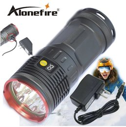 Wholesale Rechargeable Led Displays - 12000Lumen 7T6 Tatical Led Flashlight Torch With LCD Display 7xCree XM-L T6 Led Rechargeable Lamp linternas