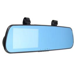 Grabadora de video online-2016 a estrenar 4.3 pulgadas HD 1080P Dash Cam Video Recorder Espejo retrovisor coche cámara vehículo DVR