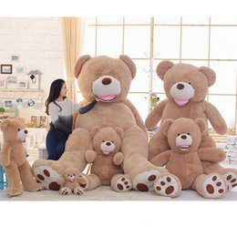 Wholesale Huge Stuffed Teddy Bears - Big Giant American Bear Teddy Huge Stuffed Plush America Brown Bear Smilling 340cm,260cm,200cm