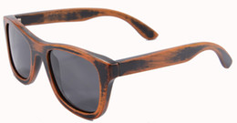 Wholesale Bamboo Wooden Shades - Wholesale-Handmade Fashion Bamboo Stain Wood Sun Glasses For Men Polarized Sunglasses Vintage Square Shade Lunettes De Soleil Homme 6016