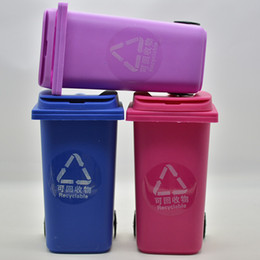 Wholesale Recycled Tables - Big Mouth Toys Mini Curbside Trash Pencil holder Recycle Can Case Table Pen Holder Storage Stationery Office Organizer Tools