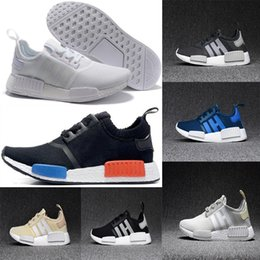 Wholesale Blue Grey Classic - 2018 Wholesale Discount Cheap pink red gray NMD Runner R1 Primeknit PK Low Men's & Women's shoes Classic Fashion Sport Shoes