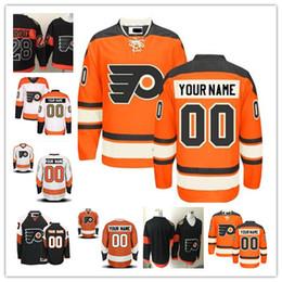 Wholesale Philadelphia Home Jersey - Stitched Personalized Philadelphia Flyers Custom Mens Women Youth Hockey Jerseys Home Orange White 50th Gold Black 2017 Stadium Series S,4XL