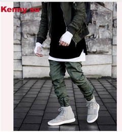 Wholesale Personal Pencils - 2016 fall winter kennysu hip hop ICON personal demonstration men military style pockets zippers side up pants jogger 30-36