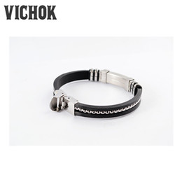 Wholesale Leather Cuff Metal - Leather steel Metal Button Bracelet Snap Button Statement Jewelry Fashion New 3 Styles Wholesale for men women free shipping VICHOK