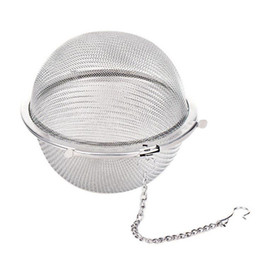 Wholesale Fast Casting - Kitchen Households New Stainless Steel Sphere Locking Mesh Infuser tea strainer Filter infusor Tea Ball Strainer fast shipping