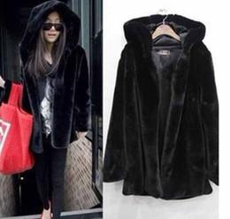 Wholesale Mink Hair Fur Coat Women - New Fashion Women Imitated Mink Coats Mink Heavy Hair Collar Faux Fur Winter Warm For Women OuterWear Ladies Long Coat