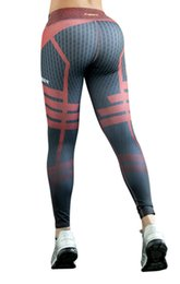 Wholesale Super Slimming Leggings - Women Printed Super Elastic Beauty Sports Gym Leggings Slim Sexy Athletic Fitness Pencil Pants Stretch Bodycon Hip Trousers