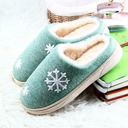Wholesale Fabric Cone - Men Women Winter Warm Fur Slippers Warm indoor bedroom slippers Lovers Home Plush House Shoes Female slides