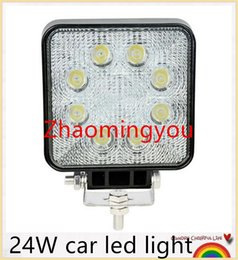Wholesale Work Led 24w - 2400 LM Mini 24W 8 x 3W Car Bridgelux Round LED Light Bar as Work light Flood   Spot Driving Light for Boating Hunting Fishing