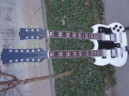 Wholesale Double Neck Oem - best china guitar Custom Shop 1275 Double Neck, Alpine White Electric Guitar OEM Musical